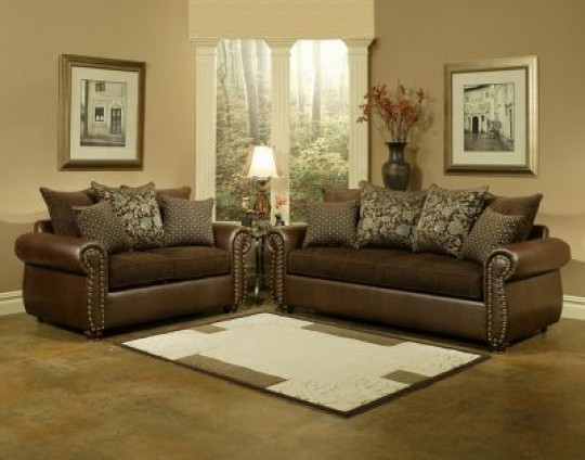 Austin Traditional Sofa & Loveseat Package By Comfort Industries