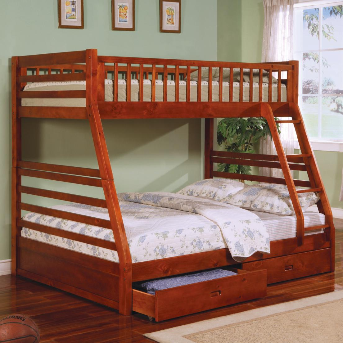 Coaster Furniture Ashton Twin Full Bunk Bed –