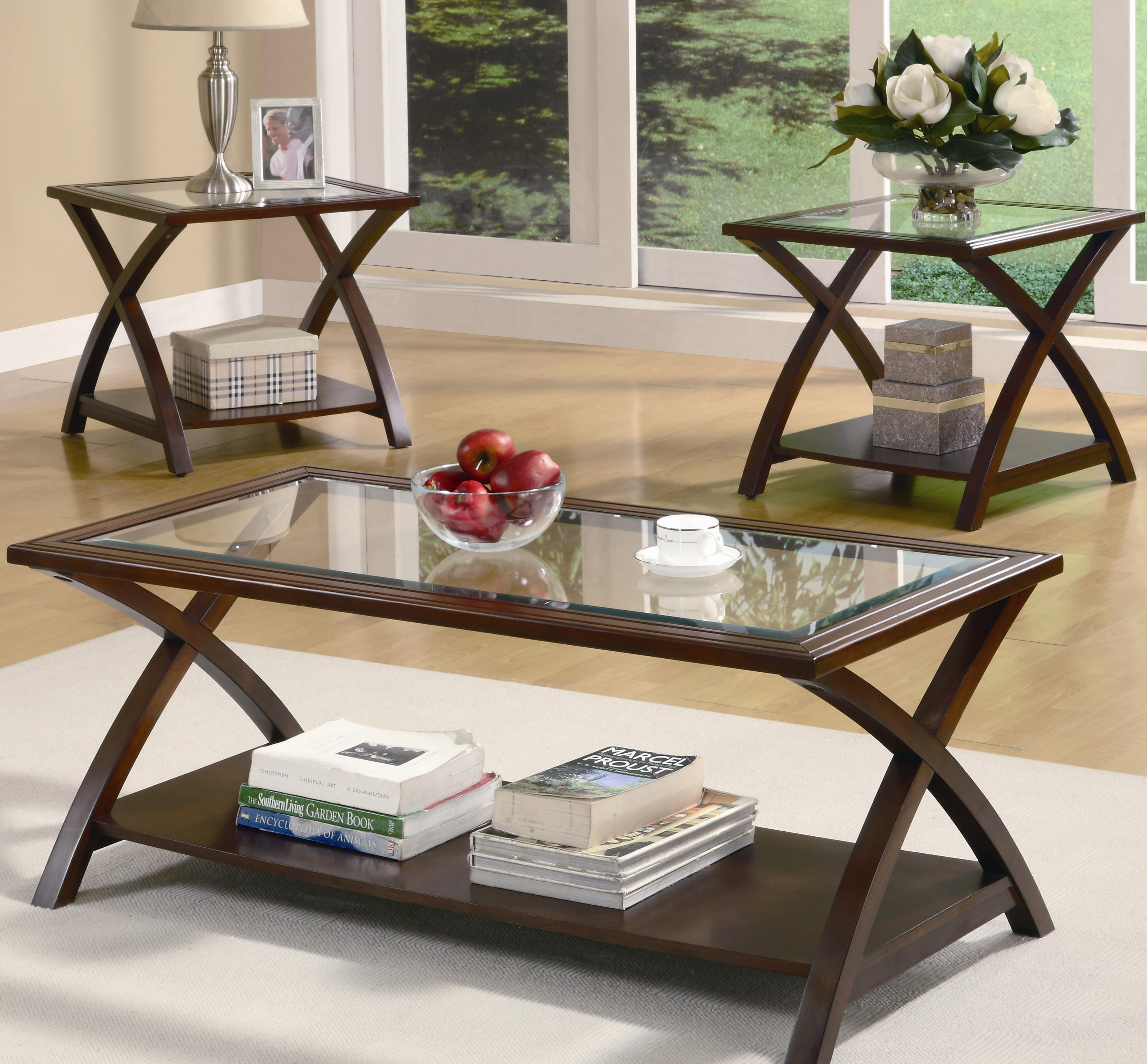 "Coaster Furniture 3 Piece ""X"" Occasional Table Set | AIM ..."