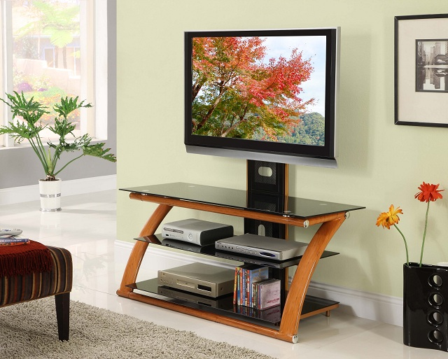 nexus honey floater tv stand by innovex
