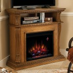 Twin Star Corinth Wall or Corner Electric Fireplace Media Center in Premium Oak