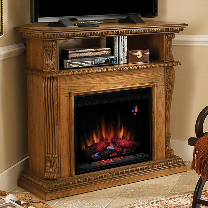 Twin Star Corinth Wall Or Corner Fireplace Media Center