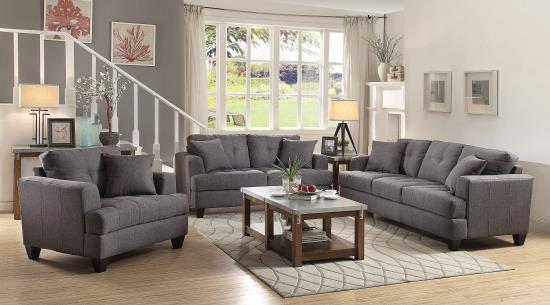 Awesome Coaster Samuel Sofa Loveseat In Two Colors Aim Rental Short Links Chair Design For Home Short Linksinfo