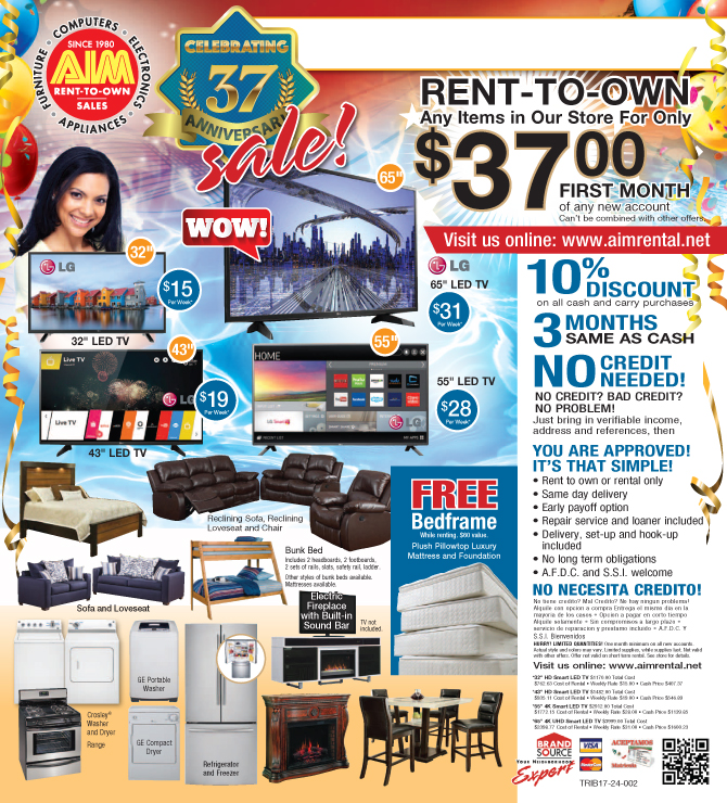 Aim Rental June 2017 Specials